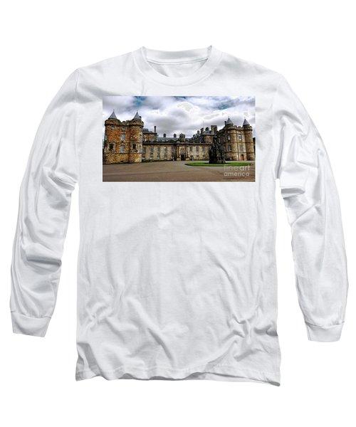 Palace Of Holyroodhouse  Long Sleeve T-Shirt by Judy Palkimas