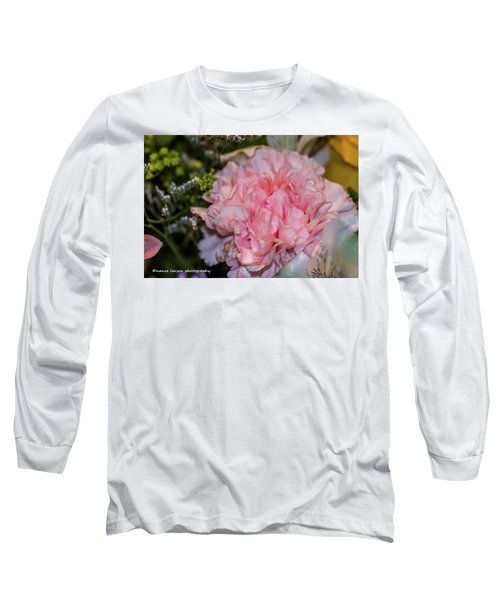 Pale Pink Carnation Long Sleeve T-Shirt