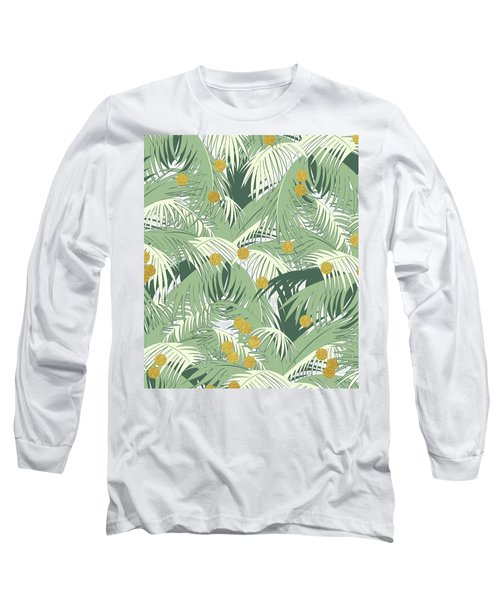 Palm And Gold Long Sleeve T-Shirt