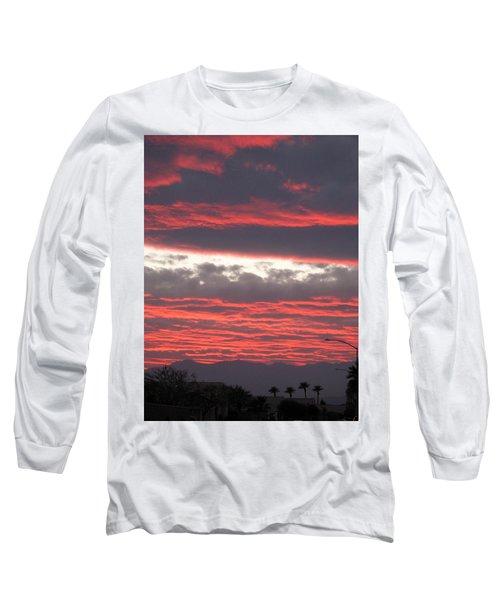 Long Sleeve T-Shirt featuring the photograph Palm Desert Sunset by Phyllis Kaltenbach