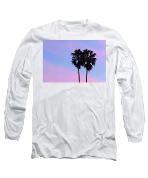 Palm Trees Silhouette At Sunset Long Sleeve T-Shirt