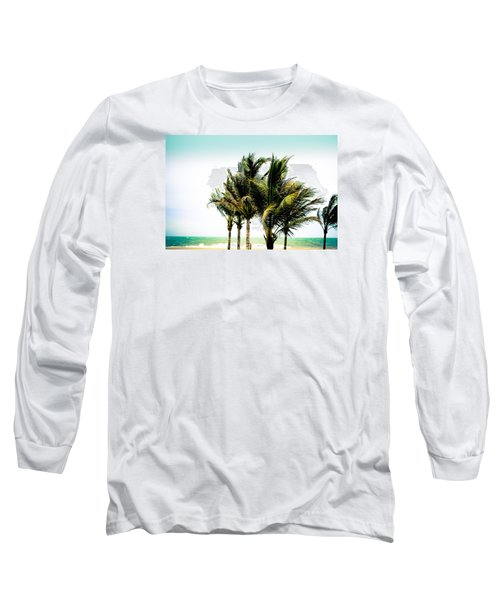 Long Sleeve T-Shirt featuring the photograph Palm Trees Ocean Breeze by Colleen Kammerer