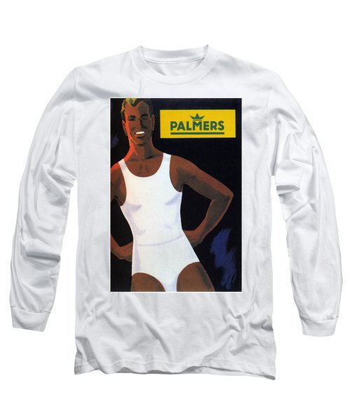Palmers - Men's Vests And Briefs - Vintage Advertising Poster Long Sleeve T-Shirt