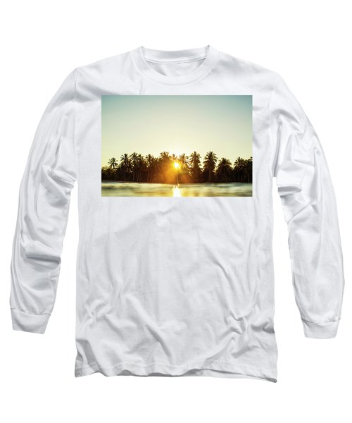Palms And Rays Long Sleeve T-Shirt