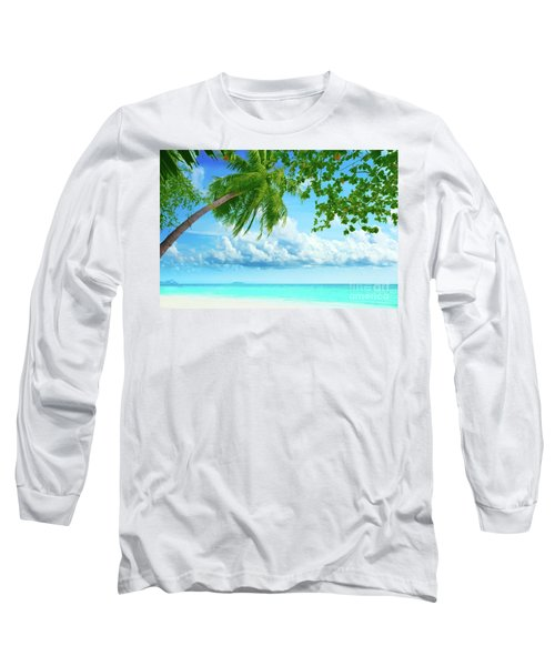 Palmtree On The Beach Long Sleeve T-Shirt