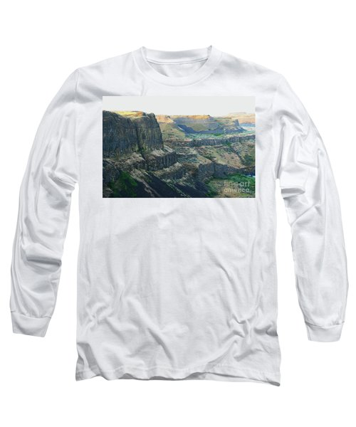 Palouse River Canyon Buttes Long Sleeve T-Shirt