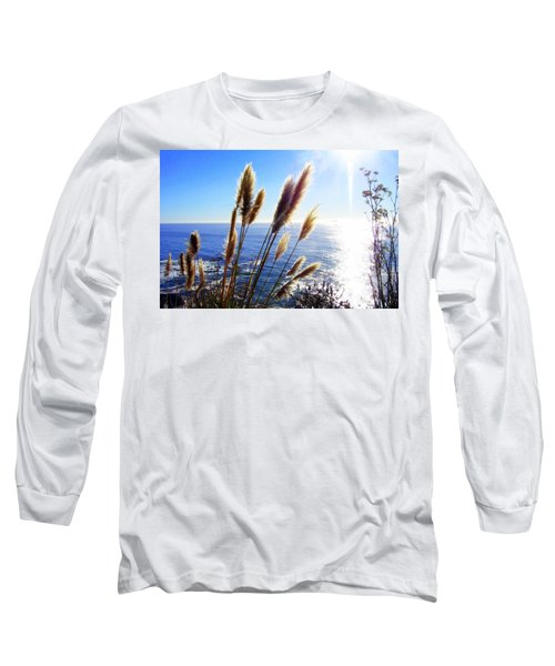Pampas Grass And The Pacific 2 Long Sleeve T-Shirt