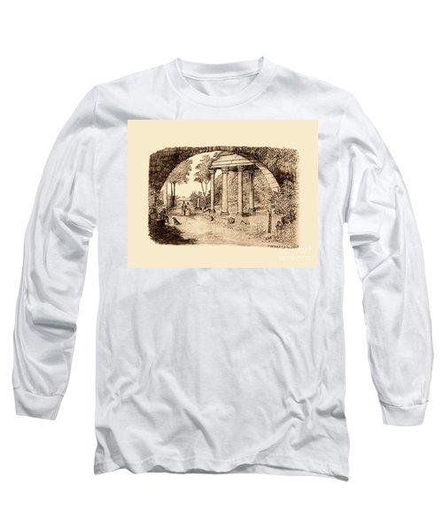 Pan Looking Upon Ruins Long Sleeve T-Shirt