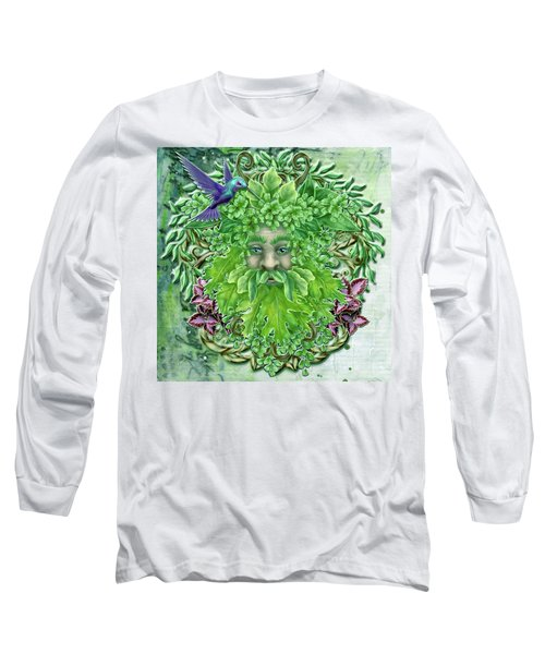 Long Sleeve T-Shirt featuring the digital art Pan The Protector by Angela Hobbs