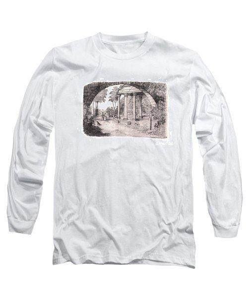 Pan Watching Ruins Of The Past Long Sleeve T-Shirt