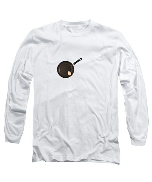 Long Sleeve T-Shirt featuring the photograph Pan With Egg by Gert Lavsen