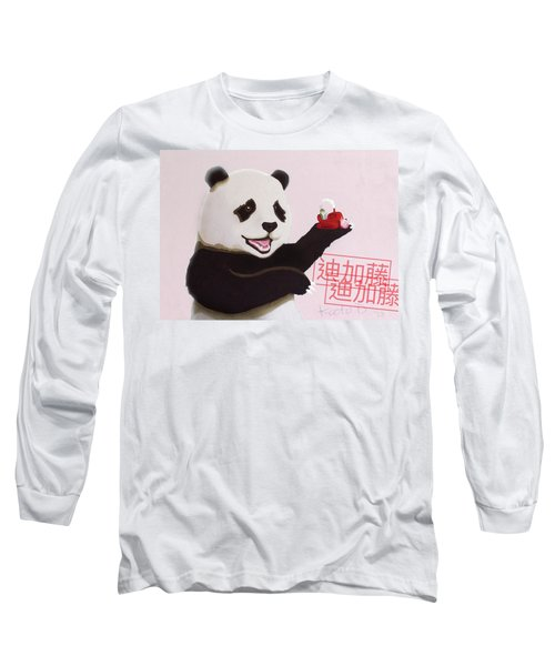 Panda Joy Pink Long Sleeve T-Shirt