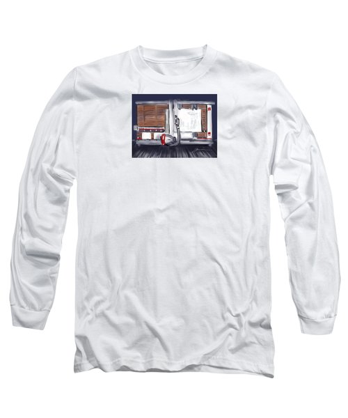 Long Sleeve T-Shirt featuring the painting Panel Saw by Jean Pacheco Ravinski