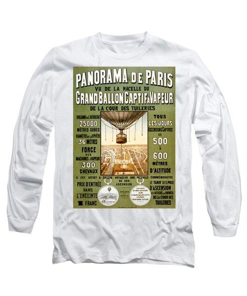 Panorama De Paris Long Sleeve T-Shirt