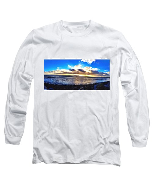 Panorama If College Beach. #beach Long Sleeve T-Shirt