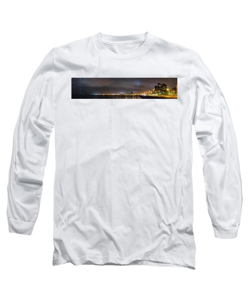 Panorama Of Reykjavik Iceland Long Sleeve T-Shirt