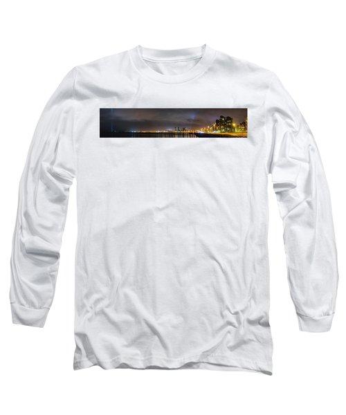 Panorama Of Reykjavik Iceland Long Sleeve T-Shirt