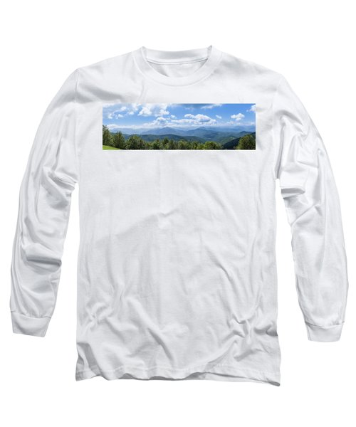 Panorama Of The Foothills Of The Pyrenees In Biert Long Sleeve T-Shirt by Semmick Photo