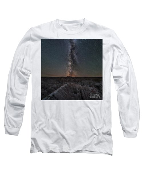 Panorama Point Milky Way Square Version Long Sleeve T-Shirt