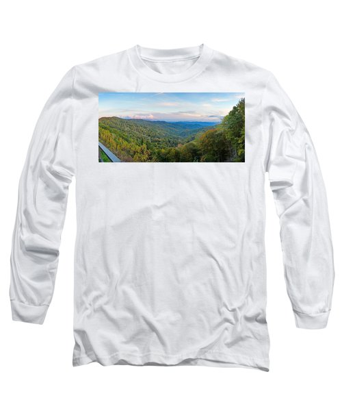 Panoramic October Views Of Smokey Mountain National Park Long Sleeve T-Shirt