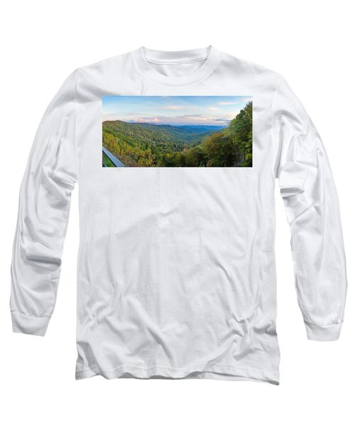 Panoramic October Views Of Smokey Mountain National Park Long Sleeve T-Shirt