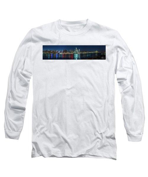 Panoramic Skyline-manhattan Long Sleeve T-Shirt