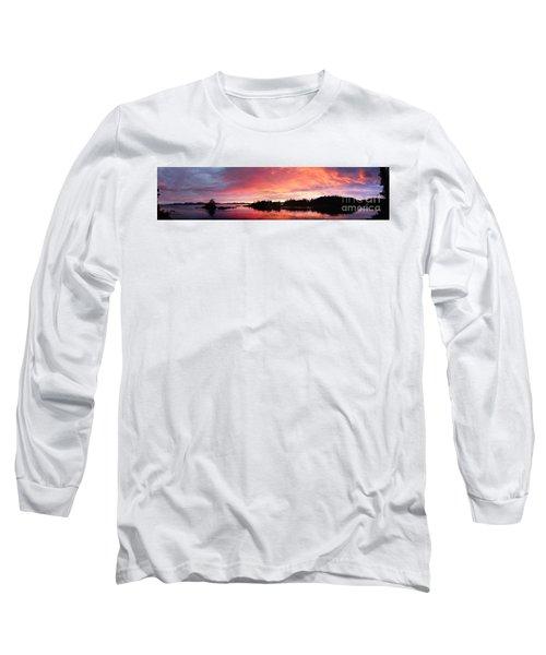 Panoramic Sunset Photo Of The Bush Of Alaska By Megan Duncanson Long Sleeve T-Shirt