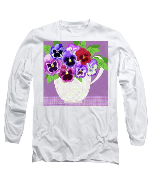 Pansies Stand For Thoughts Long Sleeve T-Shirt