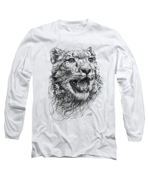 Leopard Long Sleeve T-Shirt by Michael  Volpicelli