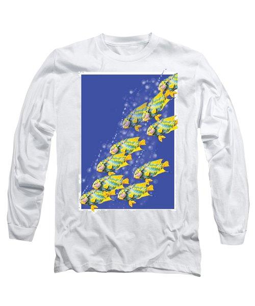Paper Sculpture Fish Long Sleeve T-Shirt