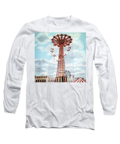 Parachute Jump In Coney Island New York Long Sleeve T-Shirt