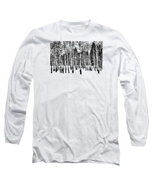Parade Of Aspens Long Sleeve T-Shirt