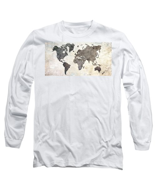 Parchment World Map Long Sleeve T-Shirt