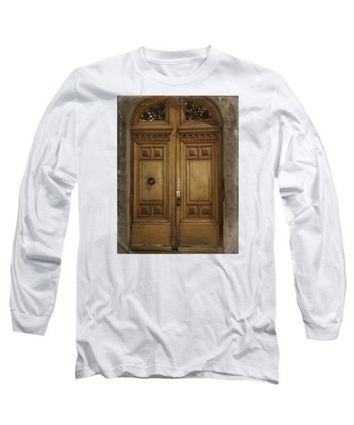 Long Sleeve T-Shirt featuring the photograph Paris Doorway by Katie Wing Vigil