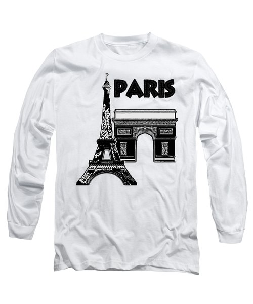 Paris Graphique Long Sleeve T-Shirt by Pharris Art