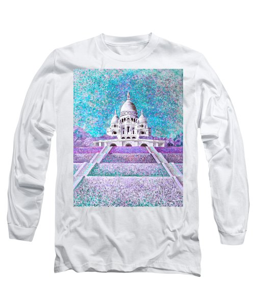 Long Sleeve T-Shirt featuring the mixed media Paris II by Elizabeth Lock