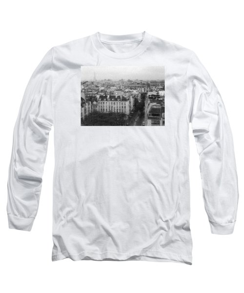 Paris In The Rain  Long Sleeve T-Shirt