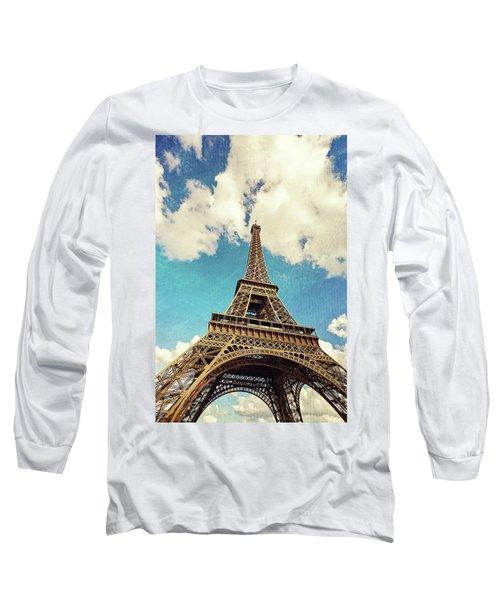 Paris Photography - Eiffel Tower Long Sleeve T-Shirt