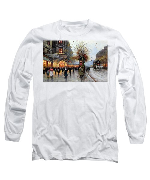 Paris Street Scene Long Sleeve T-Shirt