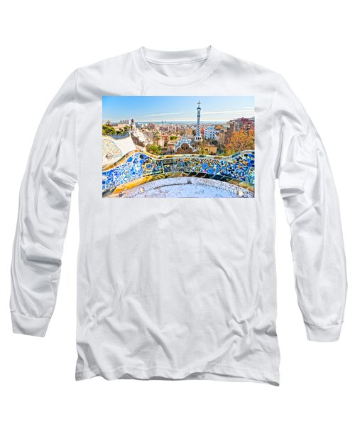 Park Guell Barcelona Long Sleeve T-Shirt by Luciano Mortula