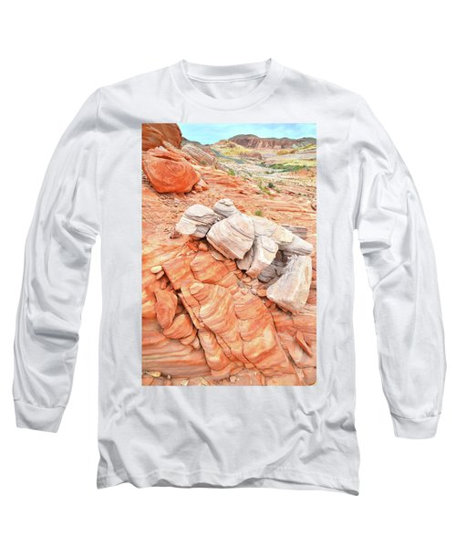 Long Sleeve T-Shirt featuring the photograph Park Road Sandstone In Valley Of Fire by Ray Mathis