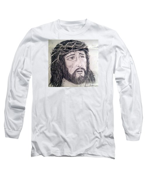 Passion Of Christ Long Sleeve T-Shirt by Brindha Naveen