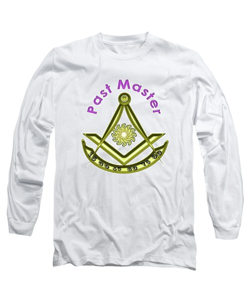 Past Master In White Long Sleeve T-Shirt
