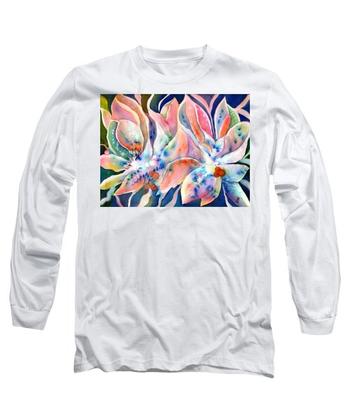 Pastel Lily Flowers Long Sleeve T-Shirt