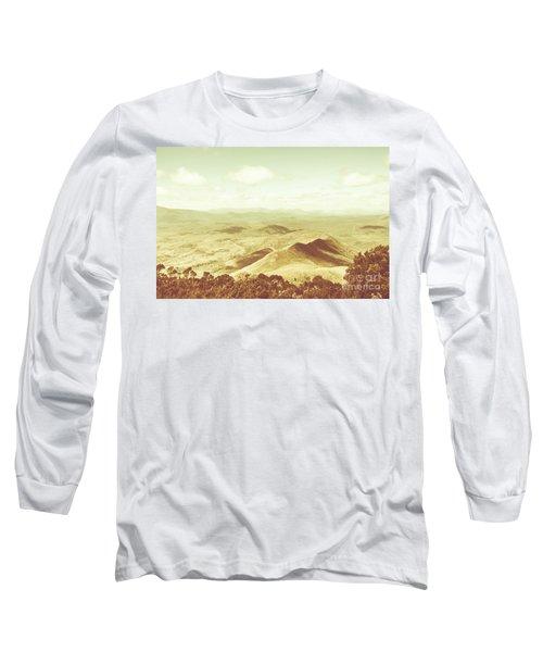 Pastel Tone Mountains Long Sleeve T-Shirt