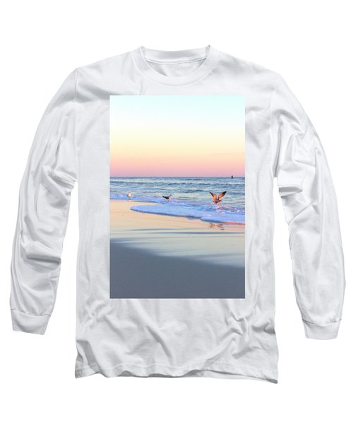 Pastels On Water Long Sleeve T-Shirt