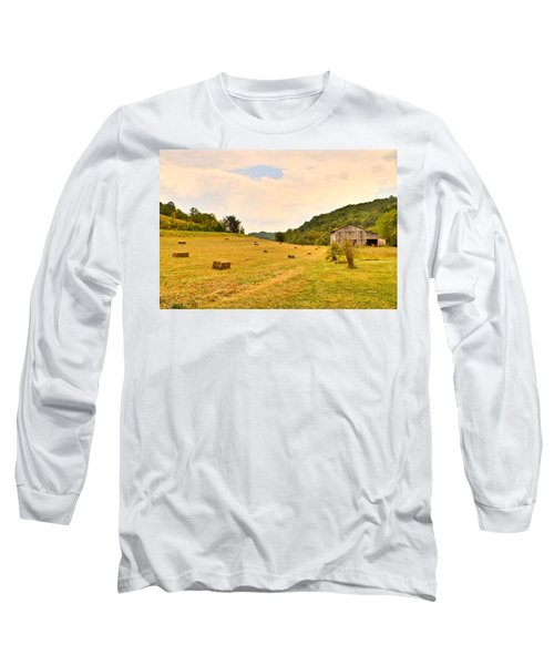 Pastorial Framland In Kentucky Long Sleeve T-Shirt
