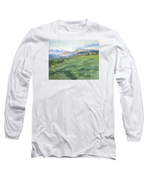 Patchwork Of Green Long Sleeve T-Shirt
