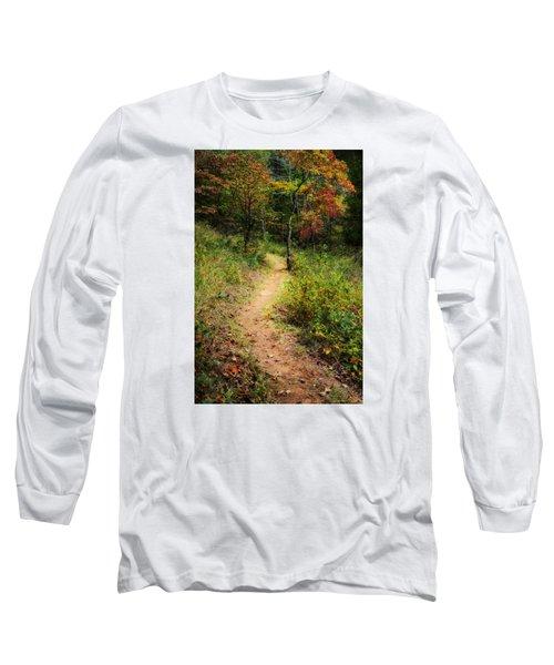 Path In The Prairie Long Sleeve T-Shirt by Diana Boyd