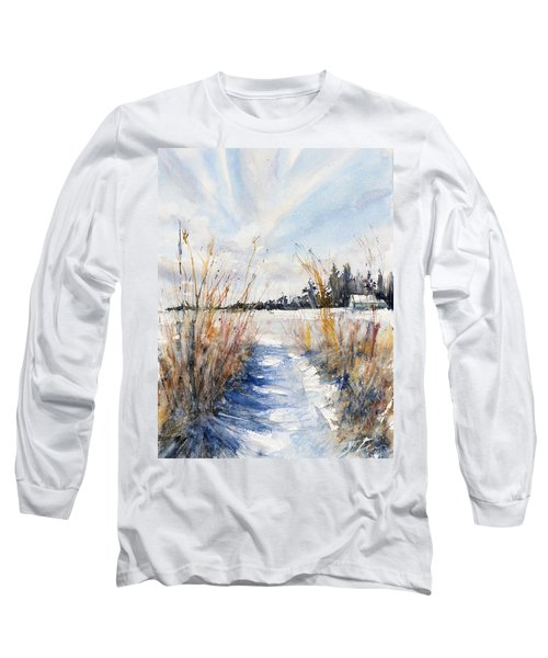 Path Shadows In The Way Back Long Sleeve T-Shirt